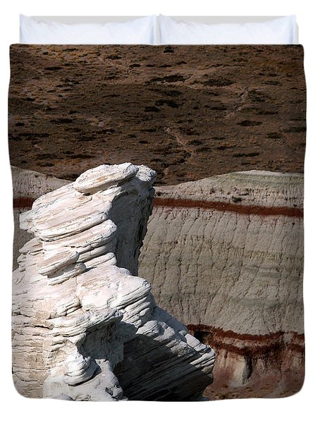 Duvet Cover featuring the photograph Coal Mine Mesa 14 by Jeff Brunton