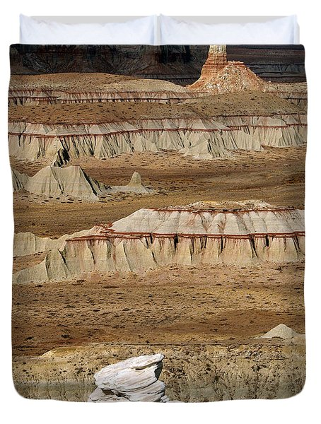 Duvet Cover featuring the photograph Coal Mine Mesa 19 by Jeff Brunton
