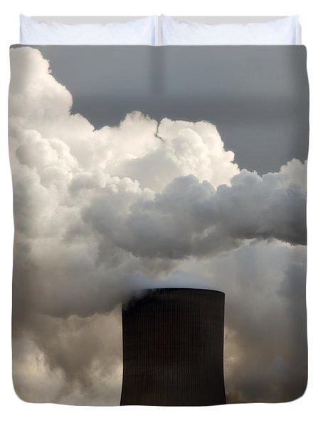 Coal Power Station Blasting Away Duvet Cover
