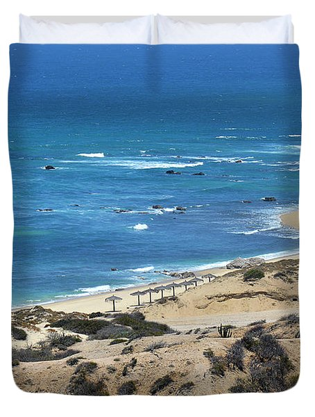 Duvet Cover featuring the photograph Coast Baja California by Christine Till