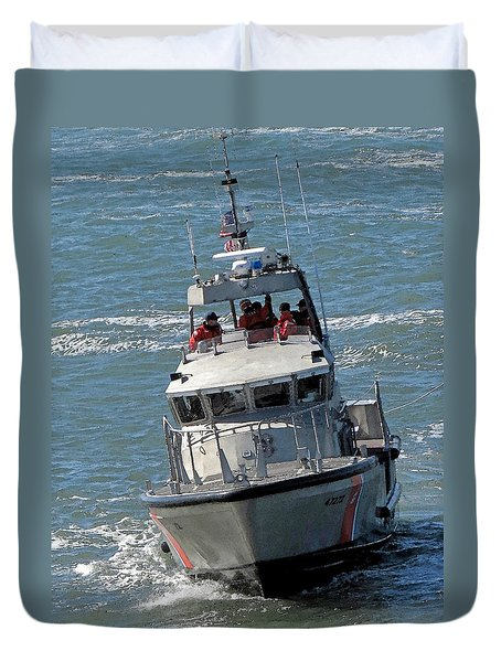 Coast Guard At Depot Bay Duvet Cover by Chris Anderson