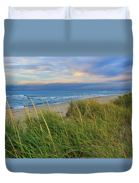 Coast Guard Beach Cape Cod Duvet Cover