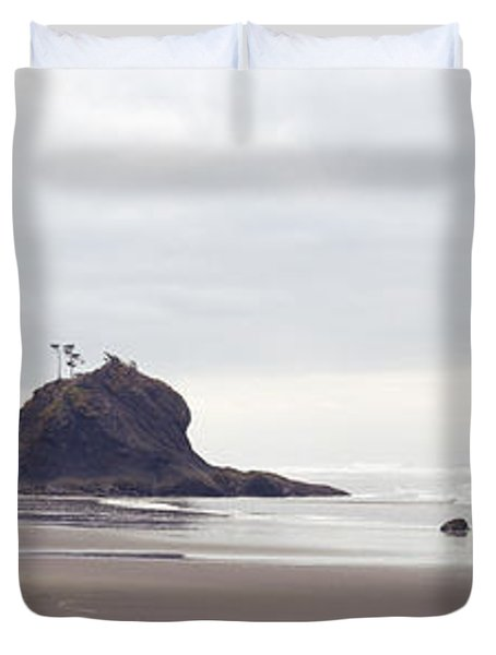Coast La Push Olympic National Park Wa Duvet Cover by Panoramic Images