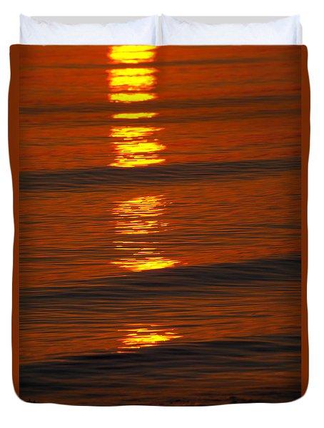 Coastal Abstract Duvet Cover by Karol Livote