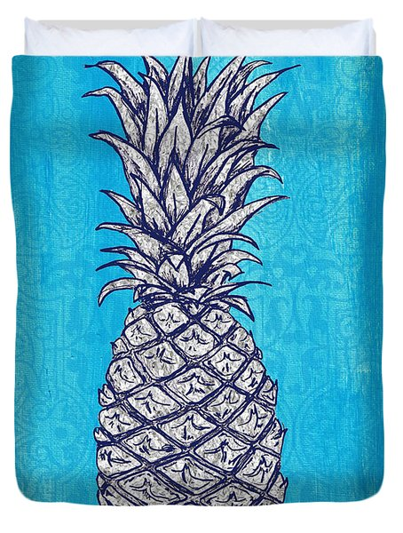 Coastal Art Escape The Pineapple Duvet Cover by William Depaula