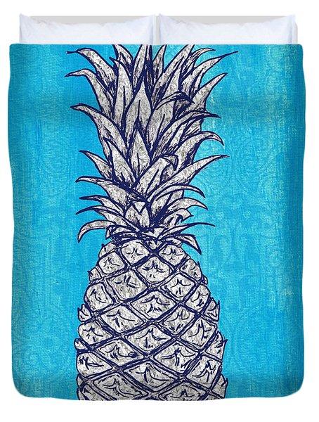Coastal Art Escape The Pineapple Duvet Cover