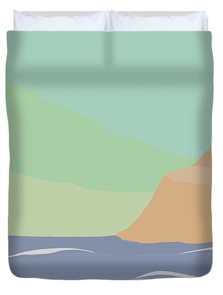 Coastal Bank Duvet Cover