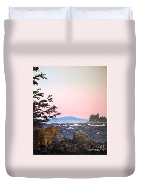 Coastal Bear Duvet Cover