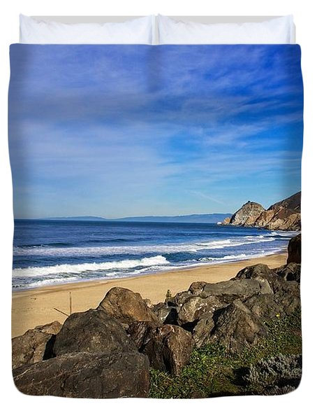 Duvet Cover featuring the photograph Coastal Beauty by Dave Files