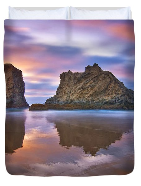 Coastal Cloud Dance Duvet Cover by Darren  White