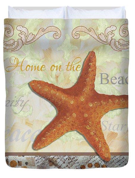 Coastal Decorative Starfish Painting Decorative Art By Megan Duncanson Duvet Cover