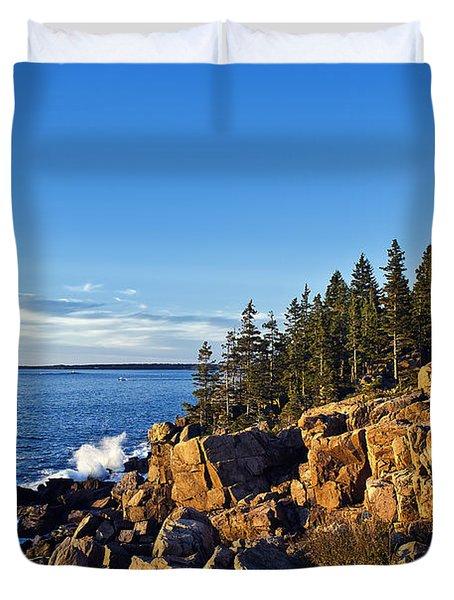 Coastal Maine Landscape. Duvet Cover by John Greim