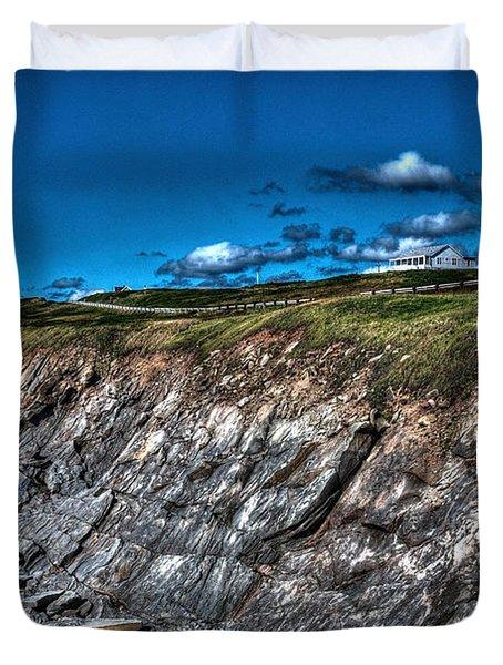 Duvet Cover featuring the photograph Coastal Nova Scotia by Joe  Ng