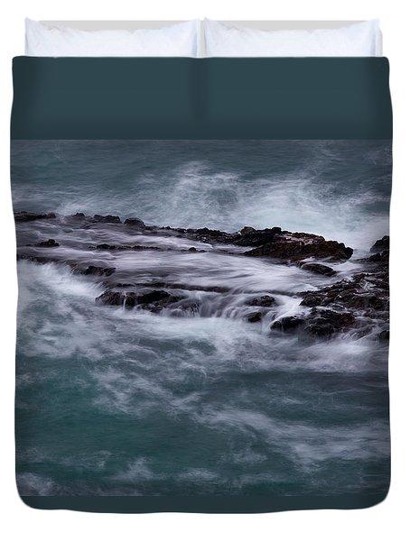 Coastal Rocks Off Rancho Palo Verdes Photography By Denise Dube Duvet Cover