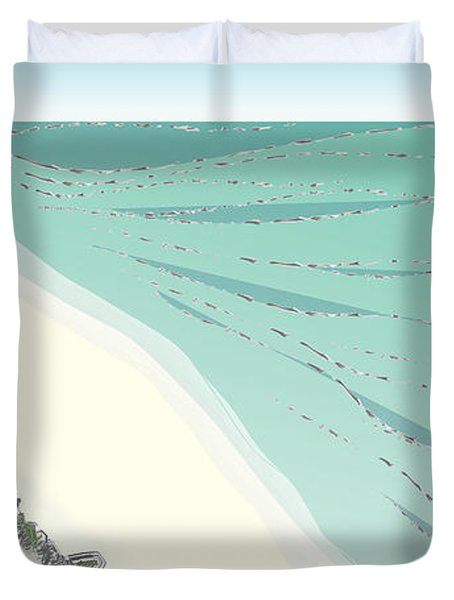 Coastal Wash Duvet Cover by Kevin McLaughlin