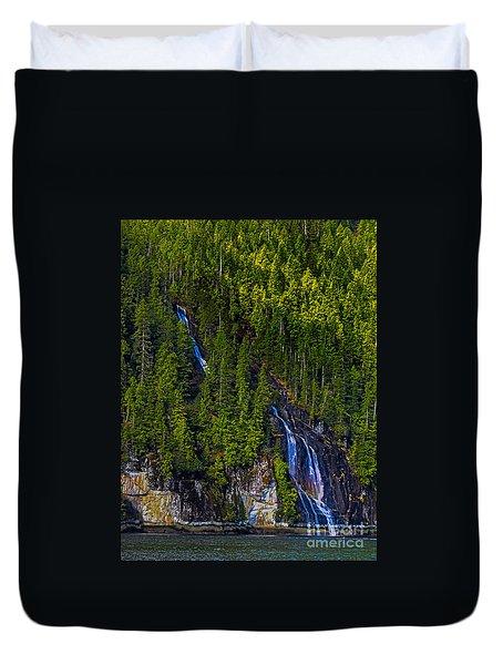 Coastal Waterfall Duvet Cover by Robert Bales