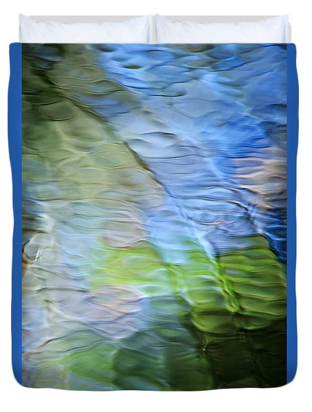 Coastline Mosaic Abstract Art Duvet Cover by Christina Rollo