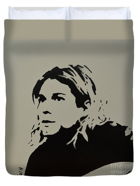 Cobain Spray Art Duvet Cover