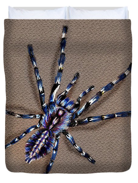 Cobalt Blue Tarantula Duvet Cover