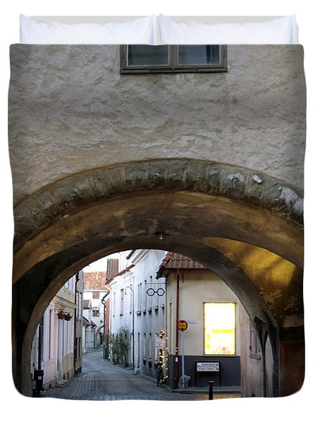 Cobblestone And Arcade Duvet Cover by Ladi  Kirn