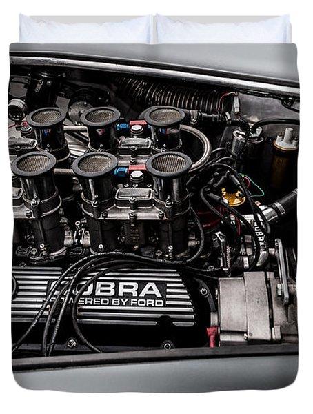 Duvet Cover featuring the photograph Cobra Engine by Matt Malloy