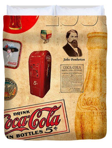 Coca Cola Duvet Cover by Andrew Fare