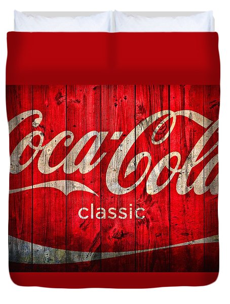 Coca Cola Barn Duvet Cover by Dan Sproul