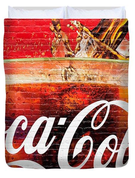 Coca Cola Duvet Cover by Luciano Mortula