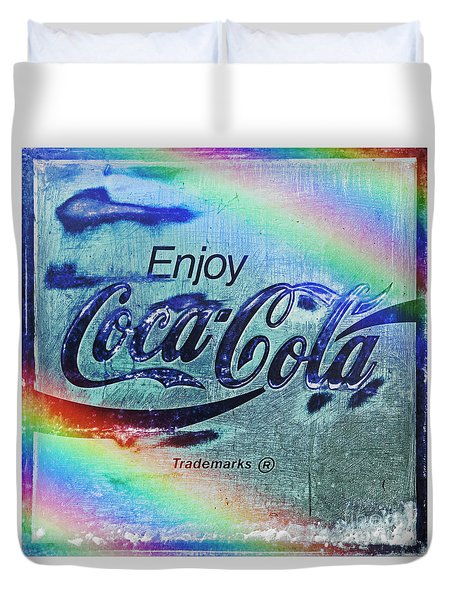 Coca Cola Rainbow Duvet Cover by John Stephens