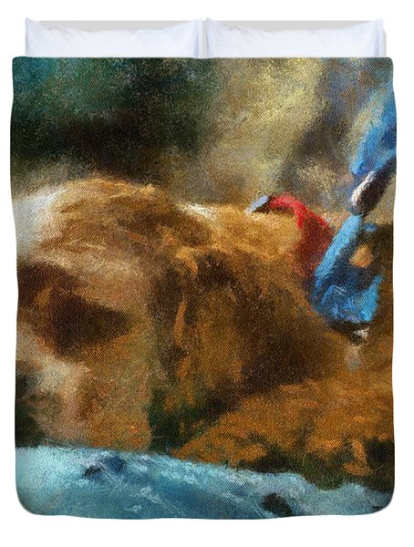 Cocker Spaniel Photo Art 07 Duvet Cover by Thomas Woolworth