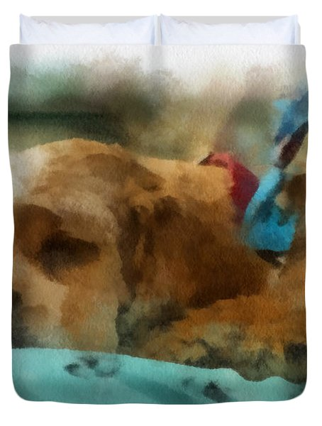 Cocker Spaniel Photo Art 06 Duvet Cover by Thomas Woolworth