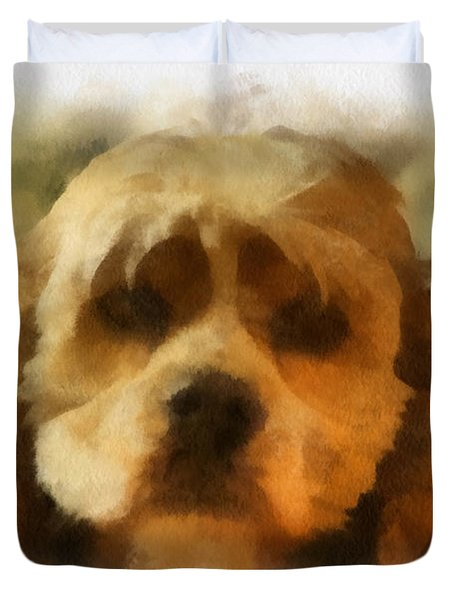 Cocker Spaniel Photo Art 03 Duvet Cover by Thomas Woolworth
