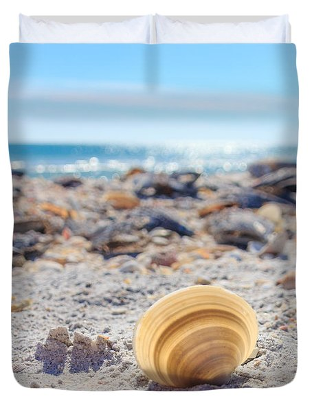 Cockle Shell Summer At Sanibel Duvet Cover