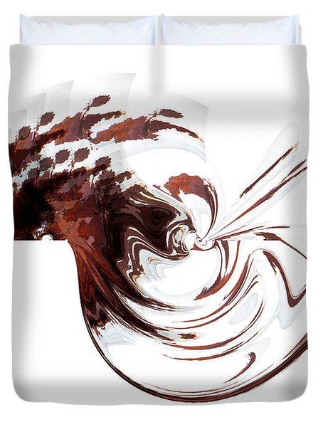 Cocoa Marshmallow Swirl Duvet Cover