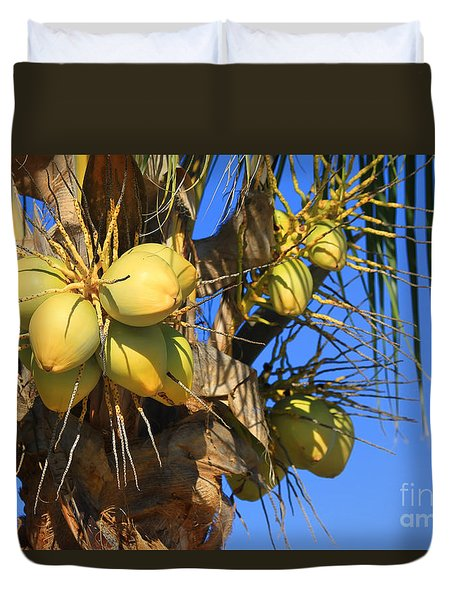 Duvet Cover featuring the photograph Coconut 2 by Teresa Zieba
