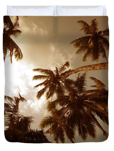 Coconut Palms Duvet Cover