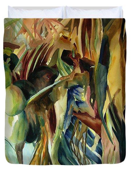 Coconuts And Palm Fronds 5-16-11 Julianne Felton Duvet Cover