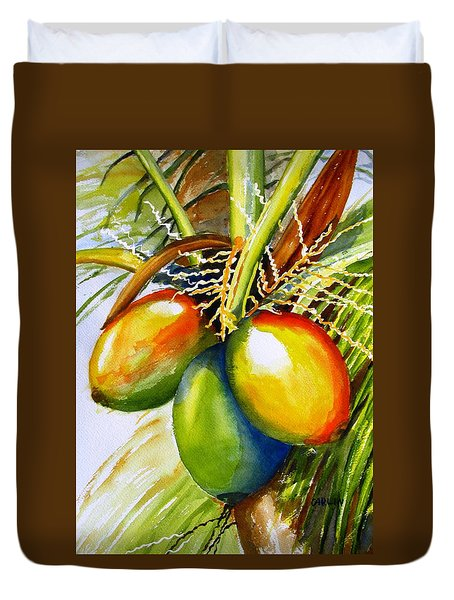 Coconuts Duvet Cover by Carlin Blahnik