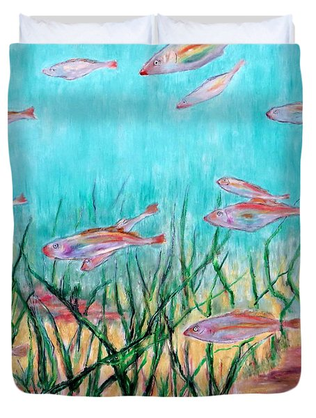 Cod In The Grass Duvet Cover