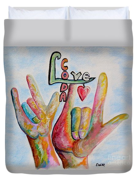 Coda - Children Of Deaf Adults Duvet Cover