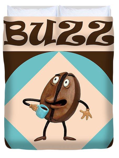 Coffee Buzz Duvet Cover