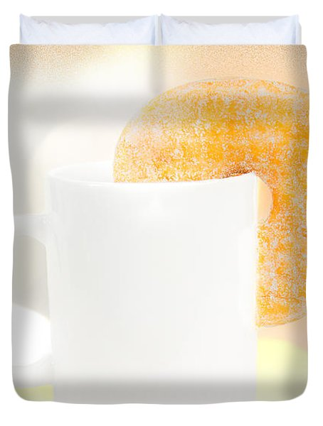 Coffee And Donuts Two Duvet Cover by Bob Orsillo
