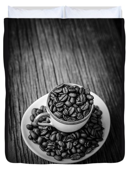 Duvet Cover featuring the photograph Coffee Beans by Edward Fielding