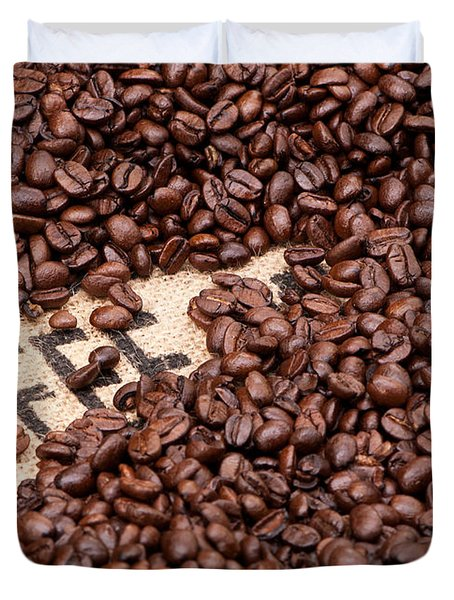 Coffee Beans Duvet Cover by Rick Piper Photography