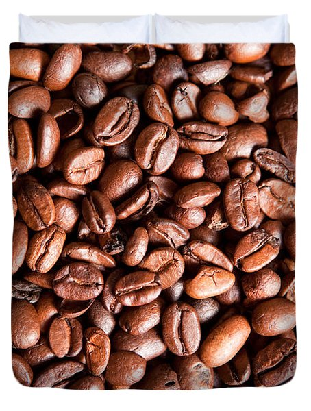 Coffee Beans  Duvet Cover by Sharon Dominick