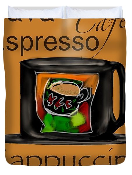 Coffee Break Duvet Cover by Christine Fournier