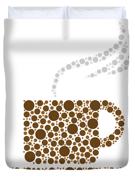 Coffee Cup Duvet Cover by Aged Pixel