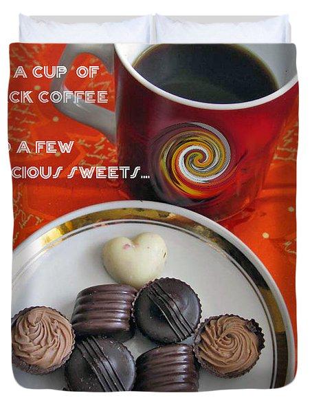 Duvet Cover featuring the photograph Coffee Season by Ausra Huntington nee Paulauskaite