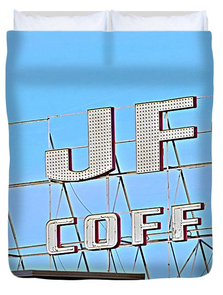 Coffee Sign Duvet Cover