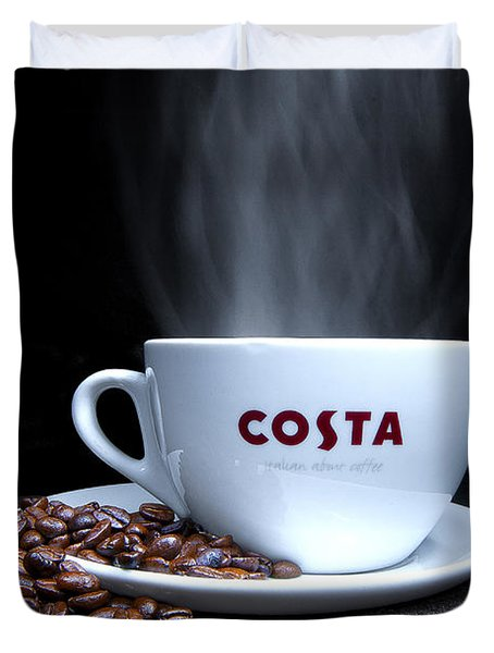 Coffee Time Duvet Cover by Rob Guiver